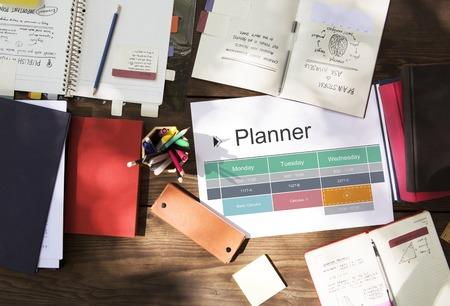 Agenda Personal Organizer Planner Schedule Banco de Imagens - 81634919