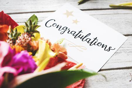꽃 꽃다발 축하 카드
