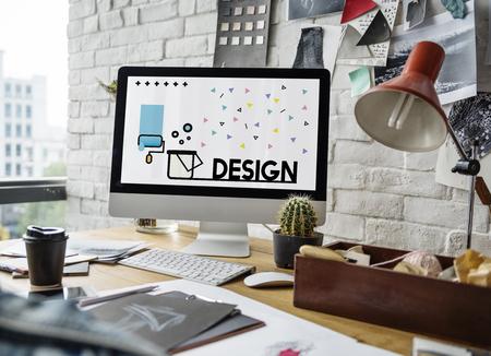 컴퓨터에서 창의적인 예술 디자인의 그래픽