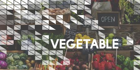 Alimentation saine Produits bio bio frais Banque d'images - 81641383