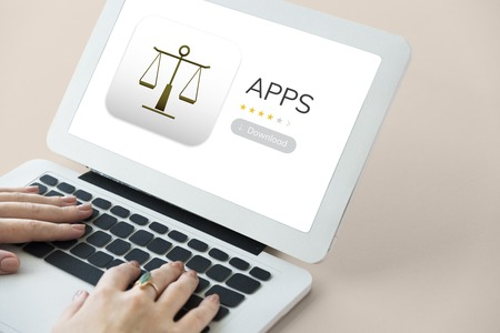 norms: Law apps on a device screen