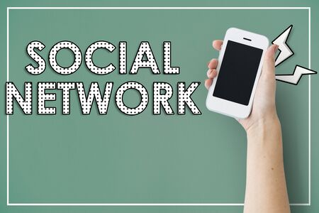 Social Media Networking Online Technology Stock Photo