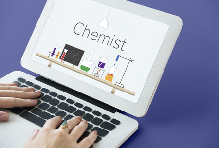 Science Study Chemical Test Tube Experiment Laboratory Graphic