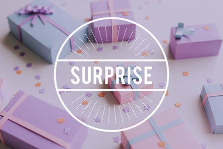 Happy Birthday Celebration Gift Surprise Word Graphic