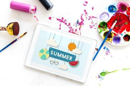 Illustration of summer holiday vacation