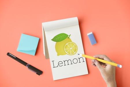 Illustration of vitamin nutritious lemon healthy food