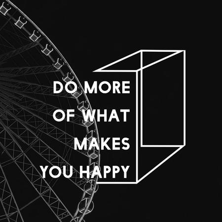 Fai più di ciò che ti rende felice vita motivazione parole grafiche di atteggiamento Archivio Fotografico - 81616754