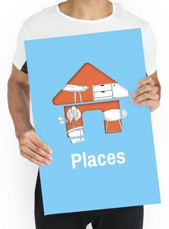 Living Places Design Ideas Concept Reklamní fotografie
