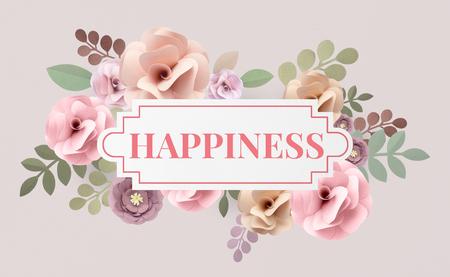 Illustration of happiness joyful flower Banco de Imagens - 81618015