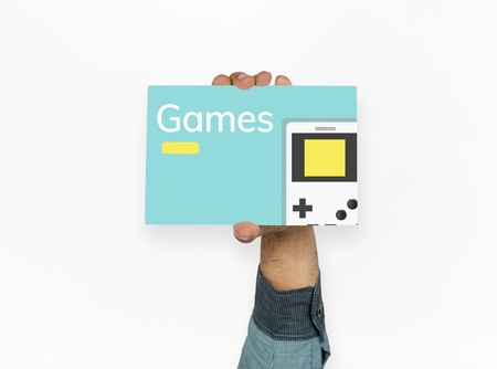handheld device: Illustration of portable handheld game device