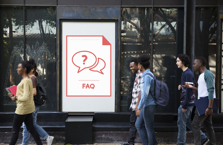 Faq Frequently Asked Questions Customer Service Stok Fotoğraf