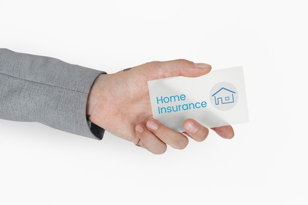 documentation: Hand holding banner network graphic overlay Stock Photo