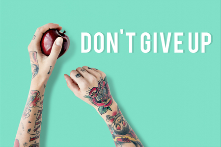 Dont Give Up Phrase Quote Overlay Reklamní fotografie