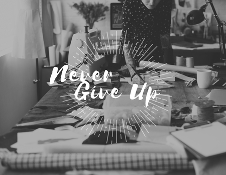 Never Give Up Challenge Encouragement