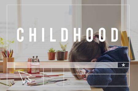 Childhood Kids Children Word Graphic