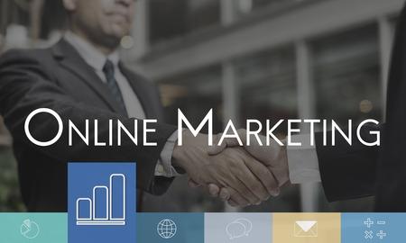 ビジネス分析戦略デジタル マーケティング 写真素材
