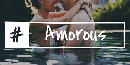Love Precious Sweet Tenderness Amorous Banco de Imagens