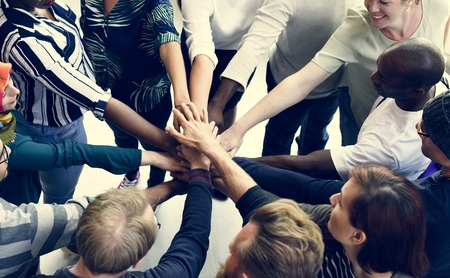 Startup Business People Teamwork Cooperation Hands Together Stock fotó