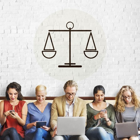 mobilephone: Law Judgement Justice Equality Concept