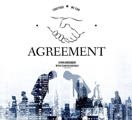계약 파트너쉽 팀웍 지원 핸드 셰이크 그래픽