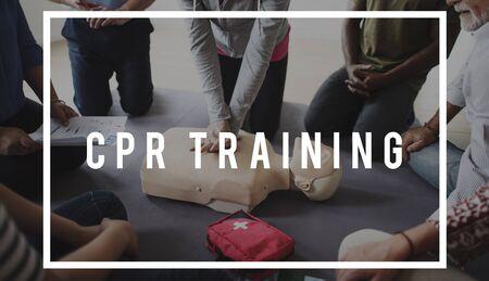 심폐 소생술 훈련 시범 수업 응급 구조