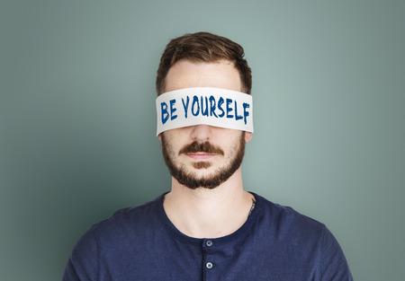 yourself: Yourself overlay word young people Stock Photo
