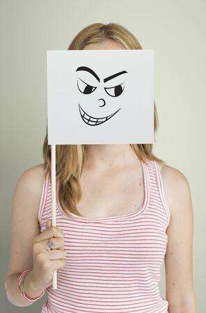 Dibujo Expresiones faciales Emociones Sentimientos Foto de archivo - 81717222