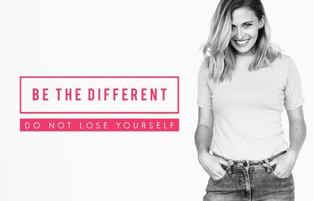 異なるいけない自分自身を失う