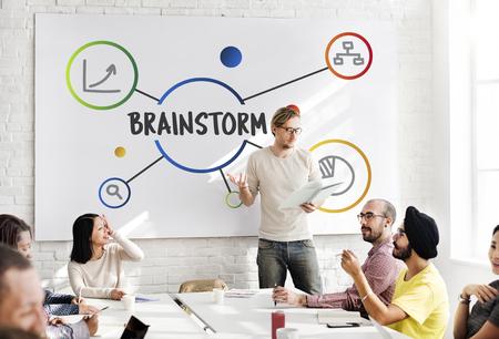 Brainstorm Analysis Creative Thinking Illustration Concept
