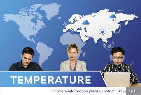 humid: Weather Forecast Special Report Concept Stock Photo
