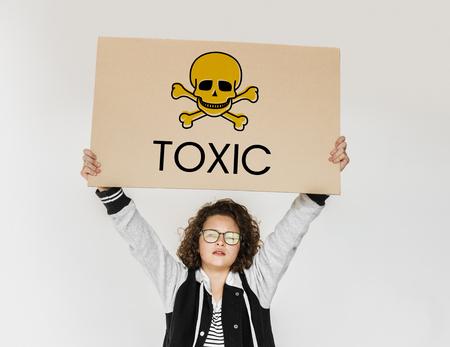 Toxic Caution Warning Skull Concept