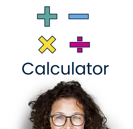 Illustratie van wiskunde calculator symbool Stockfoto - 81724250