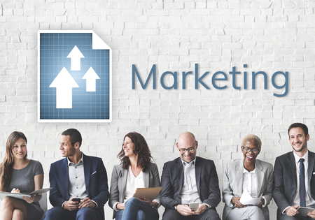 Business people meeting and analysis market growth