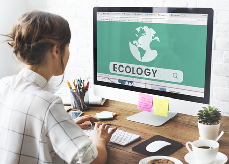 Illustration of world ecology energy saving