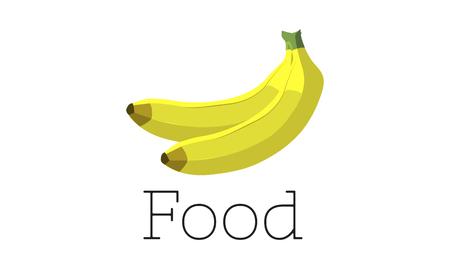 Illustrazione di banana fresca organica deliziosa Archivio Fotografico - 81731896