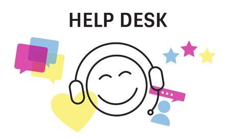 Ilustración de contacto con nosotros servicios de atención al cliente en línea Foto de archivo - 81731914