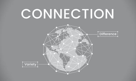 Gráfico de la sociedad global de la conexión de red Foto de archivo - 81723681