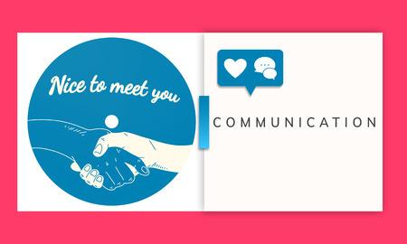 Communication Connect Information Message Dialog Фото со стока - 81735839