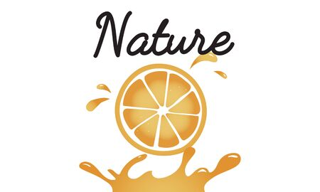 신선한 자연 오렌지 유기 과일 그래픽