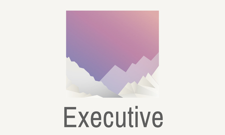 Graphic with executive concept
