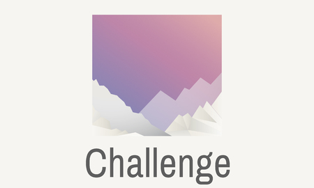 Graphic with challenge concept Stock Photo