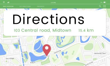 Mapa Posição GPS Posição Gráfico Foto de archivo - 81736207