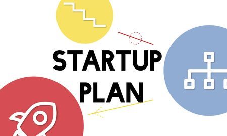 Zakelijk ondernemerschap Plan succes pictogrammen Stockfoto