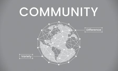 글로벌 네트워크 연결 사회 그래픽