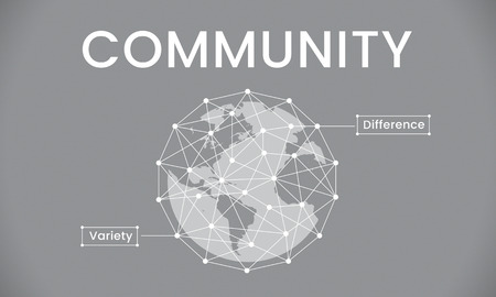 Global Network Connection Society Graphic Stock fotó