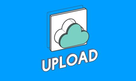 Data computing cloud icon graphic Imagens