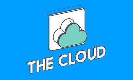 データ コンピューティング雲のアイコン グラフィック