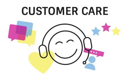 Illustration der Kontakt mit uns Online-Kundendienst Standard-Bild - 81737905