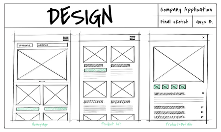 Website template sketch layout idea