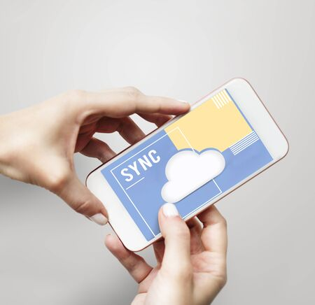 Download Network Sync Cloud Storage Stock Photo